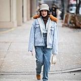 Winter Outfit Idea: Denim on Denim on Denim