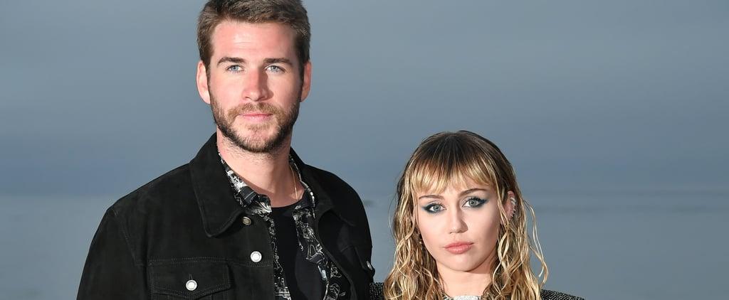 Miley Cyrus and Liam Hemsworth at Saint Laurent Show 2019