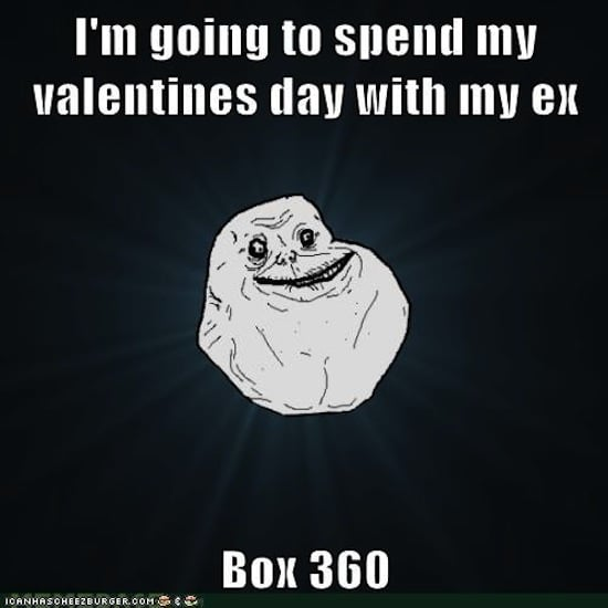 Of course, the Forever Alone rock gives an appropriate Valentine's Day contribution.