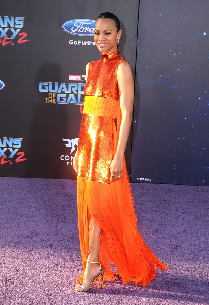 April at the Premiere of Guardians of the Galaxy Vol. 2 in Los Angeles