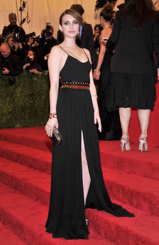 Emma Roberts at the Met Gala 2013.