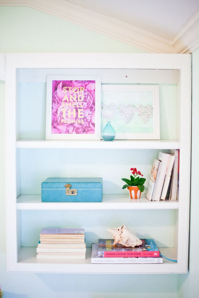The princess starts her day by reading a book (or two . . . or three), so she'd definitely have a cute bookshelf displayed in her home.