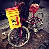 Make a Bike Basket Out of a Container