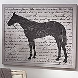 Pottery Barn Horse Canvas Wall Art ($149)