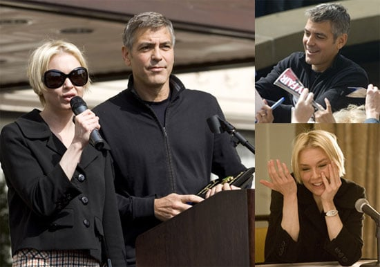 George Clooney and Renée Zellweger Promote Leatherheads In South Carolina