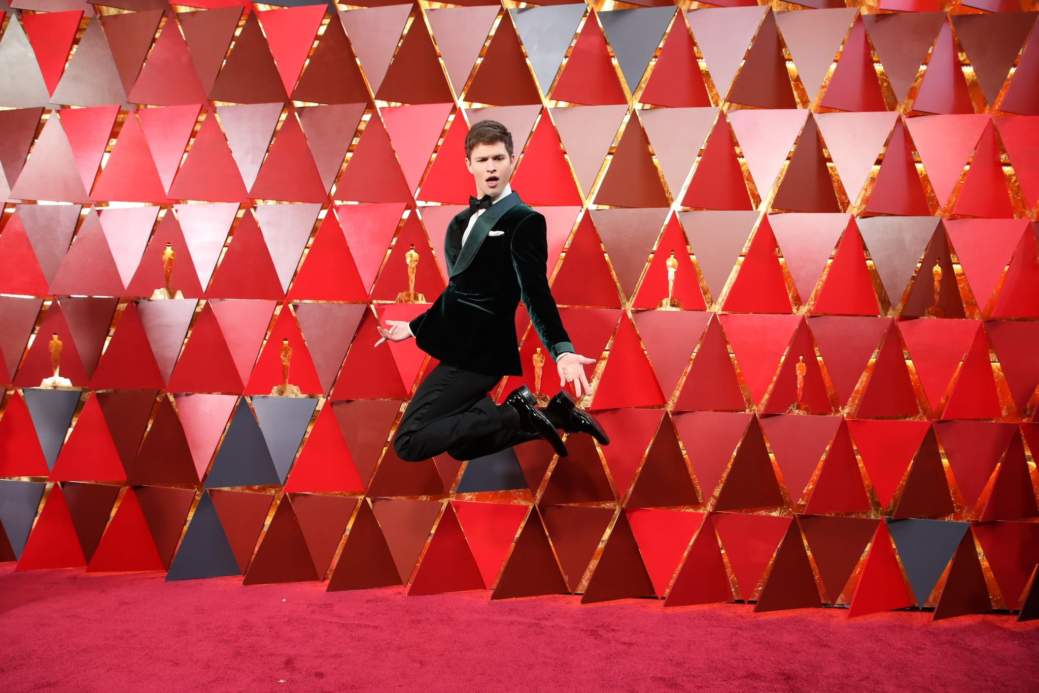 Mandatory Credit: Photo by Chelsea Lauren/REX/Shutterstock (9446174ev)Ansel Elgort90th Annual Academy Awards, Arrivals, Los Angeles, USA - 04 Mar 2018