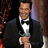 Matthew McConaughey Beamed at His SAG Award