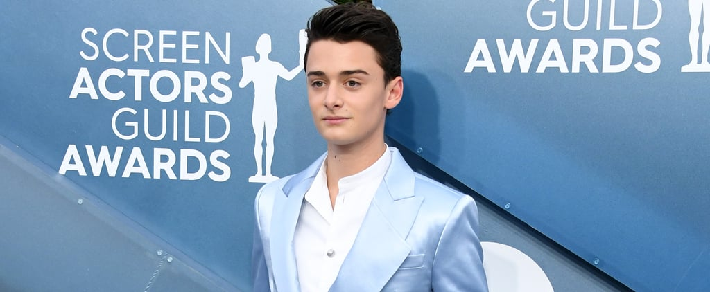 Noah Schnapp's Blue Balmain Suit at the SAG Awards