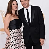 Jason Bateman sported a sleek suit alongside his wife, Amanda Anka, at the Emmys.
