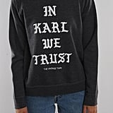Maddie's Exact In Karl We Trust Sweatshirt From The Vintage Twin