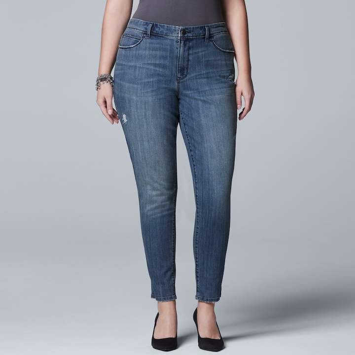 5ace809c242 Simply Vera Wang Plus Size Skinny Jeans
