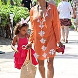 Halle Berry and Nahla attended an Easter egg hunt while on vacation in Hawaii on Sunday.