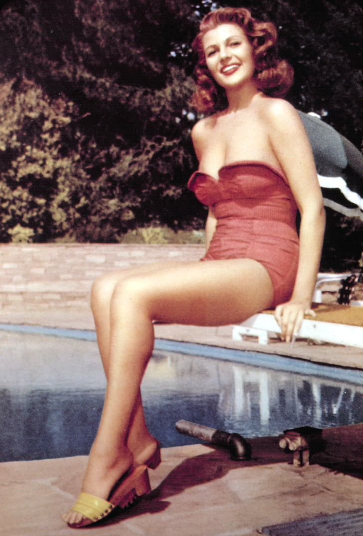 Rita Hayworth Retro Swimsuit Photos Popsugar Fashion