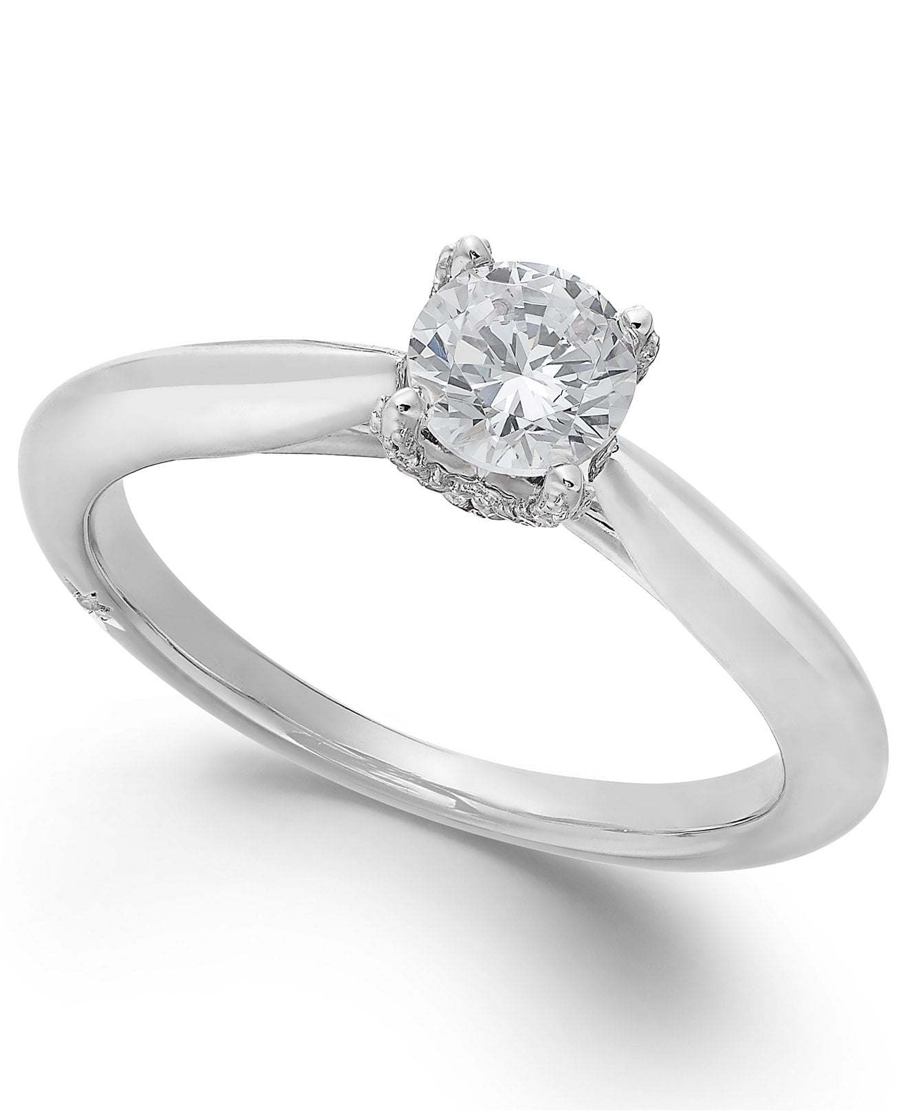 Classic by Marchesa Certified Diamond Solitaire Engagement Ring in