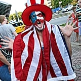 Uncle Sam appeared.