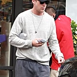 Ryan Gosling stopped for a bottle of water.