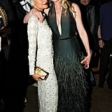 Kirsten Dunst wrapped her arm around Nicole Richie at the afterparty.  Source: Neil Rasmus/BFAnyc.com