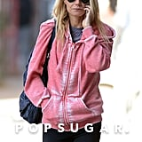 Gwyneth Paltrow Brings a Pop of Pink to Her Workout