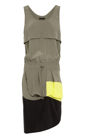 Alexander Wang's silk draped dress ($265, originally $525) is the perfect mix of utilitarian and chic. Just add flat sandals and a denim jacket for further flair.