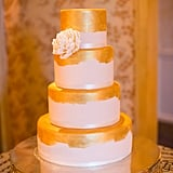 If an elaborate fondant cake is more your style, a trend for 2015 I've been seeing is the incorporation of metallic gold or silver icings. Metallic overall is really chic in the wedding industry right now.