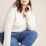 Joy Fringed V-Neck Sweater