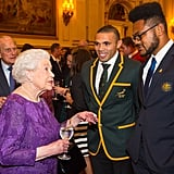 When the Queen Mingled With Rugby Players