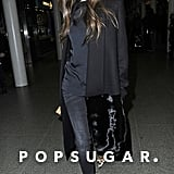 Victoria Beckham arrived back in London.