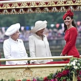 The queen, Camilla, and Kate shared a moment.
