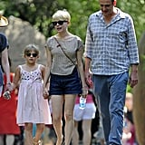 Michelle Williams and Jason Segel took Matilda to the zoo in NYC.