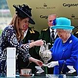 Princess Eugenie and Queen Elizabeth II, 2016