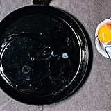 When frying eggs, separate the whites and the yolk.