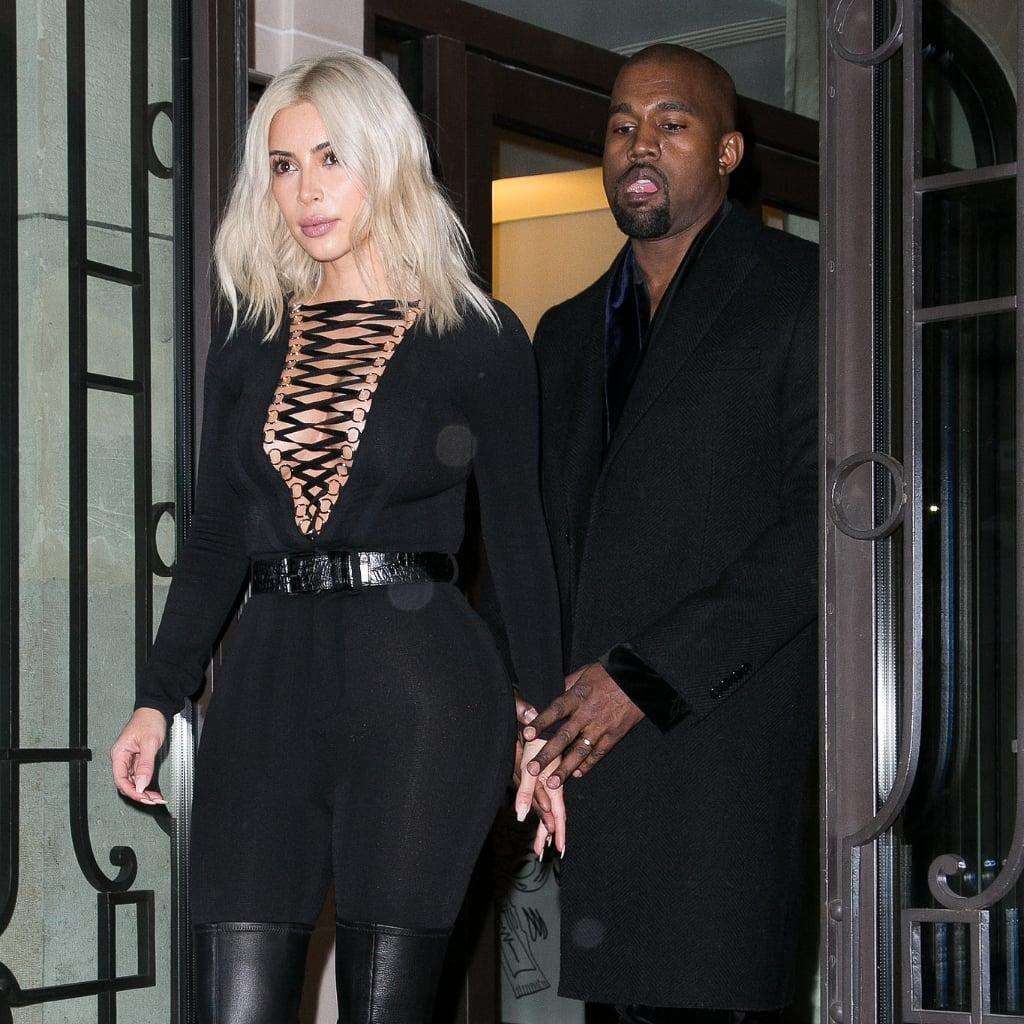 Kim Kardashian at Paris Fashion Week