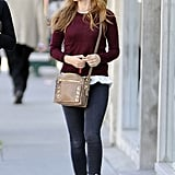 On Tuesday, Isla Fisher ran errands with a friend in West Hollywood.