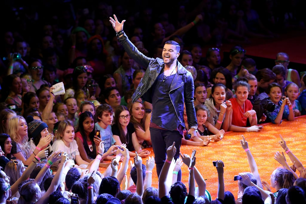 """Guy Sebastian performed his uplifting new song, """"Dare to Be Square"""" in front of thousands of screaming fans at Slimefest."""