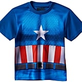 Boys Marvel Captain America Textured Muscle Tee