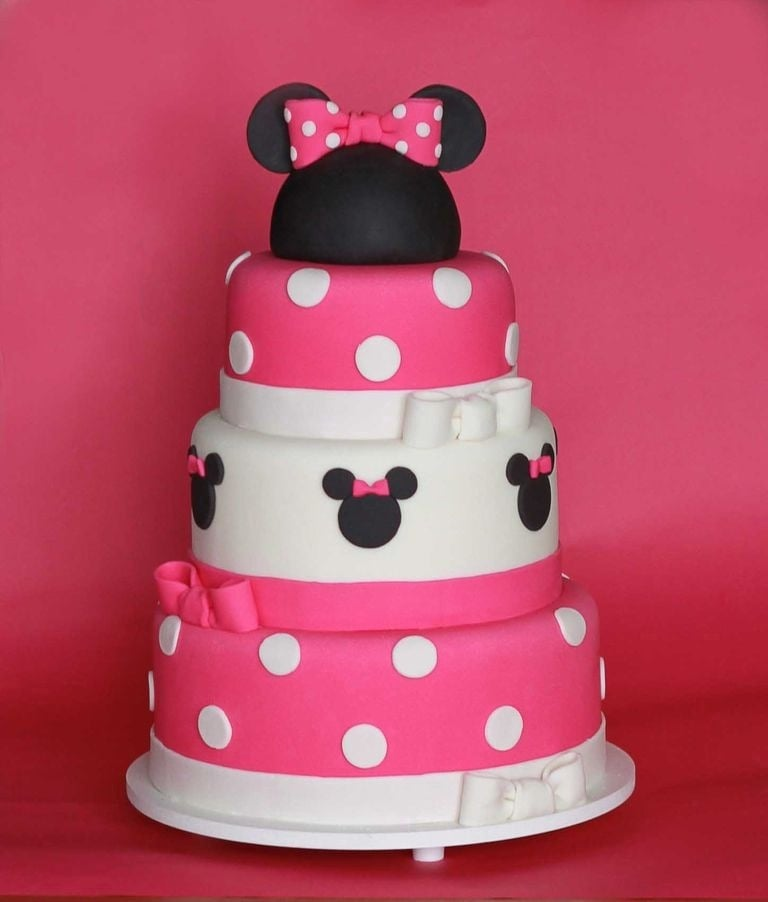 Minnie Mouse Birthday Cake | Minnie Mouse Birthday Party Ideas ...