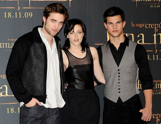 Photos of Robert Pattinson, Kristen Stewart, Taylor Lautner at New Moon in Madrid
