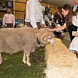 Kate met Fred the ram at Sydney's Royal Easter Show in 2014.