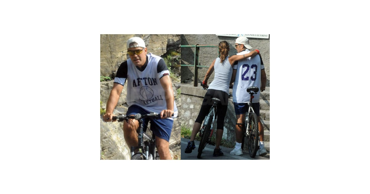 George Clooney and Elisabetta Share an Affectionate Pre-Emmy Italian Bike Ride