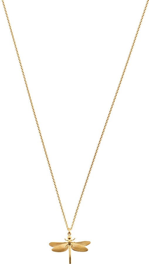 Alex Monroe Gold Vermeil Classic Dragonfly Necklace (£130)