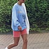 Pastel Sweatshirt and Bike Shorts