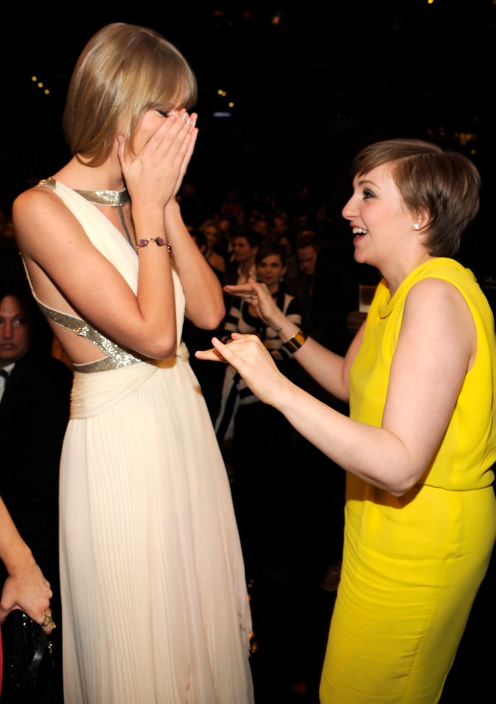 She was surprised to run into Lena Dunham at the Grammys in February 2013.