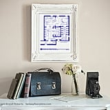 Carrie Bradshaw Apartment Art - TV Show Floor Plan ($20)