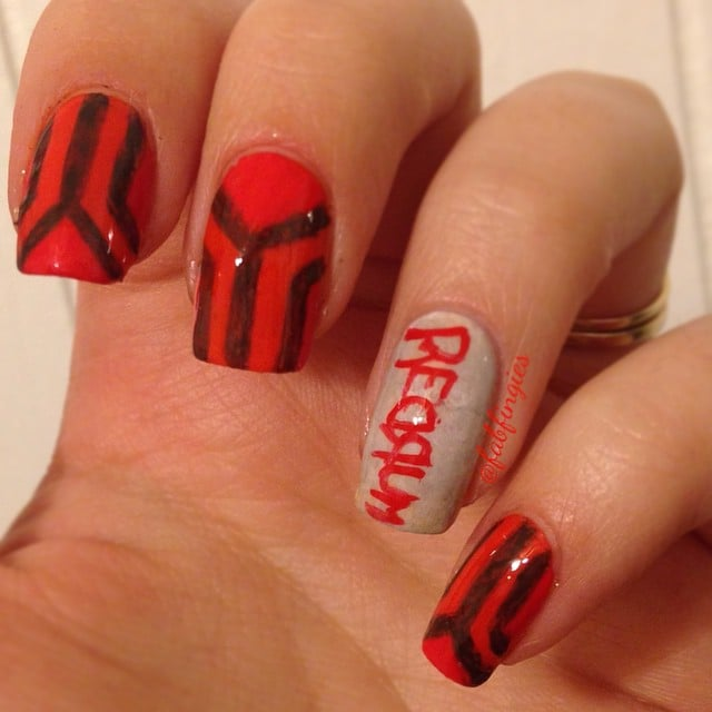 The Shining Horror Movie Nail Art Inspiration Popsugar Beauty