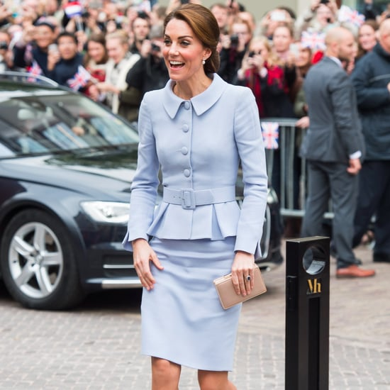 Duchess Kate's Blue Catherine Walker Suit October 2016