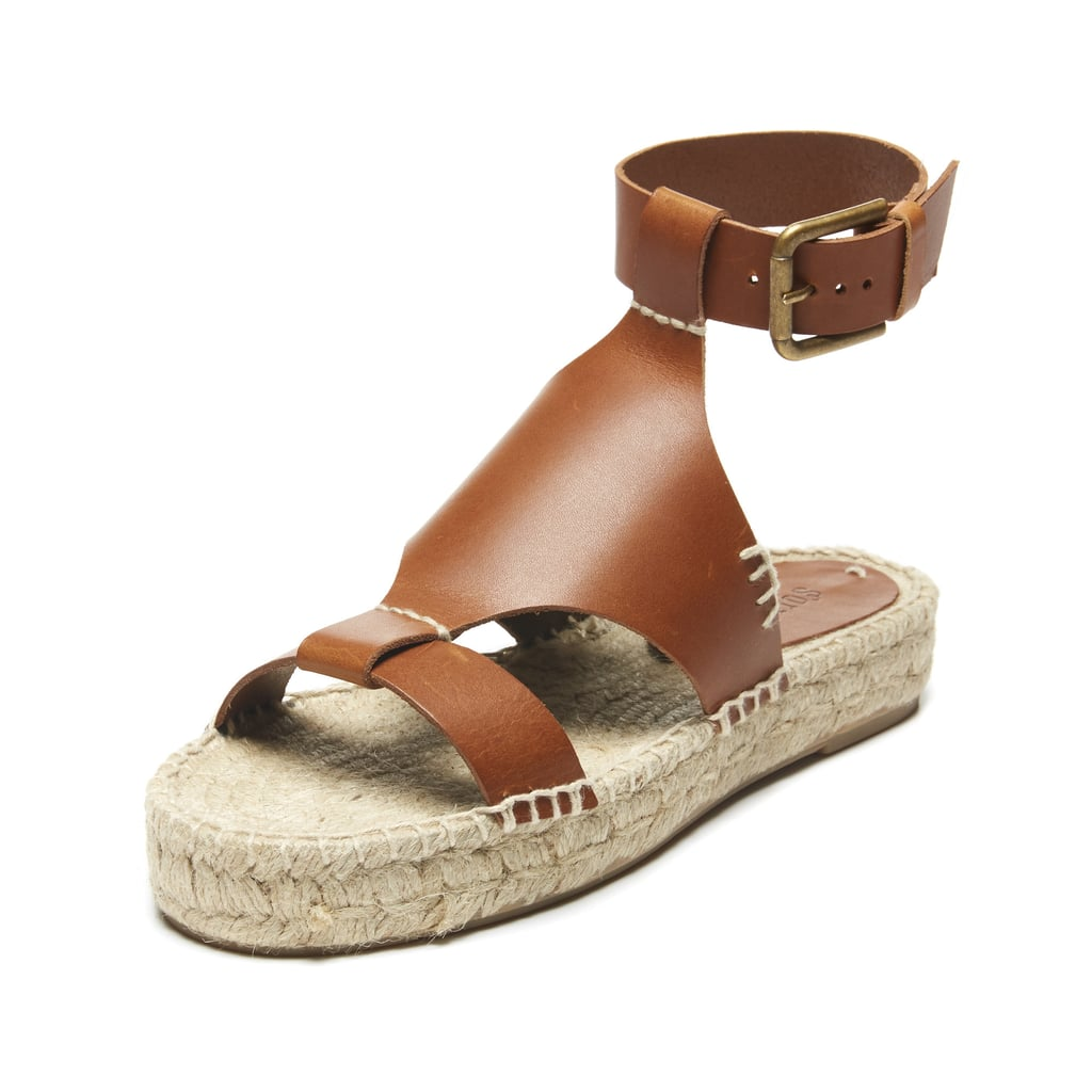 Soludos Banded Shield Leather Espadrille Sandals