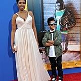 Jennifer Hudson at LA Sing Premiere With Son