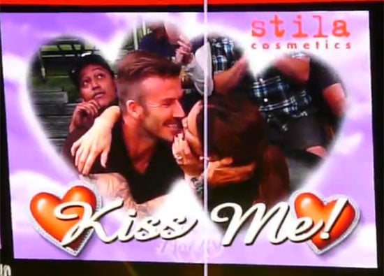 In May 2012, David and Victoria Beckham smooched on the Kiss Cam during a Lakers game.