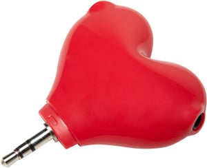 Photos of the Heart Headphone Splitter