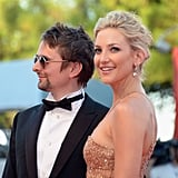 Kate Hudson posed with fiancé Matthew Bellamy at the Venice Film Festival premiere of The Reluctant Fundamentalist.